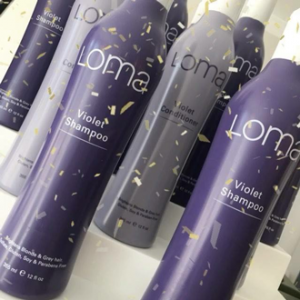 Loma Violet hair care products at Cachet Hair Studio