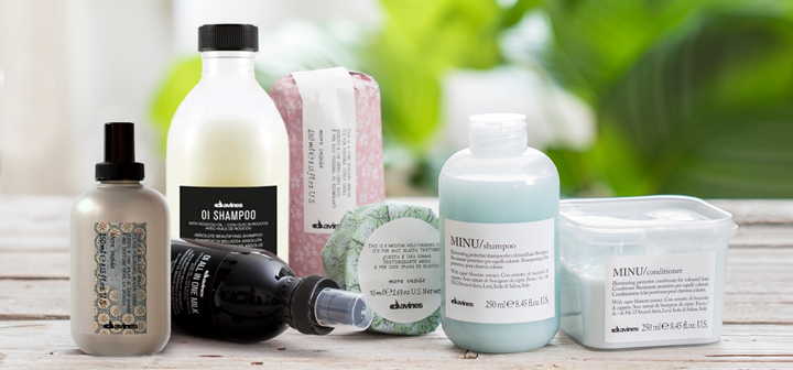 Davines hair care products used and sold at Cachet Hair Studio in Lake Country, BC